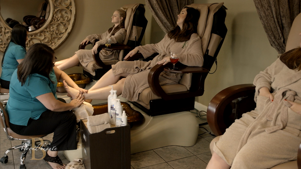 Girls in Pedicure Room 3